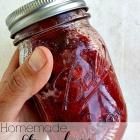 Homemade strawberry sauce.