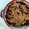 Peach and blueberry crumbles.