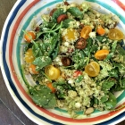 Green goddess quinoa salad.