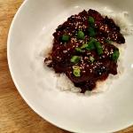 Slow cooker Korean beef bowls