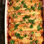 Super easy chicken enchiladas