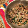 Orzo with spinach and parmesan