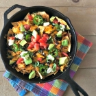 Pulled Chicken Skillet Nachos