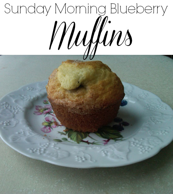 Sunday morning blueberry muffins
