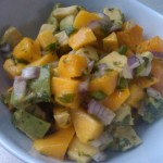 'Sunny' mango salsa & good friends