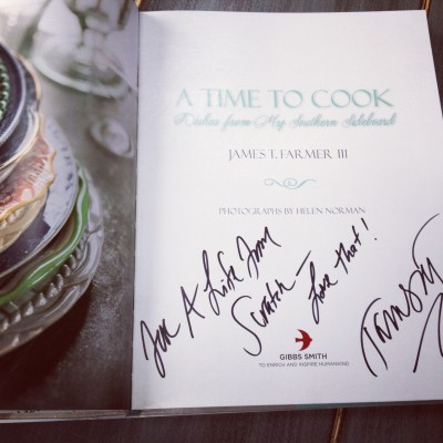 James T. Farmer III's cookbook