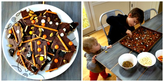halloween bark collage