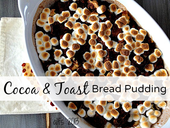 cocoa and toast bread pudding