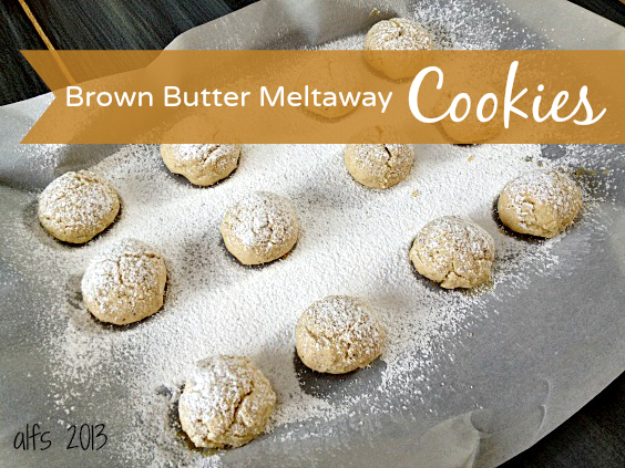 browned butter meltaway cookies