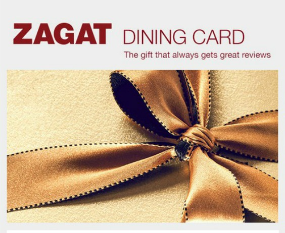 Zagat dining card giveaway a life from scratch for Fish table sweepstakes near me