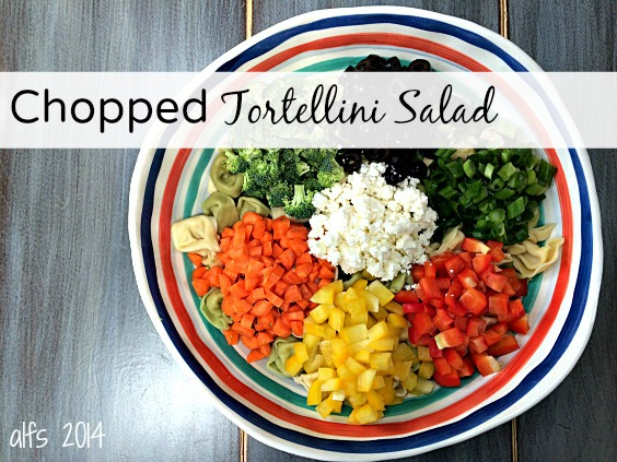 Chopped Tortellini Salad