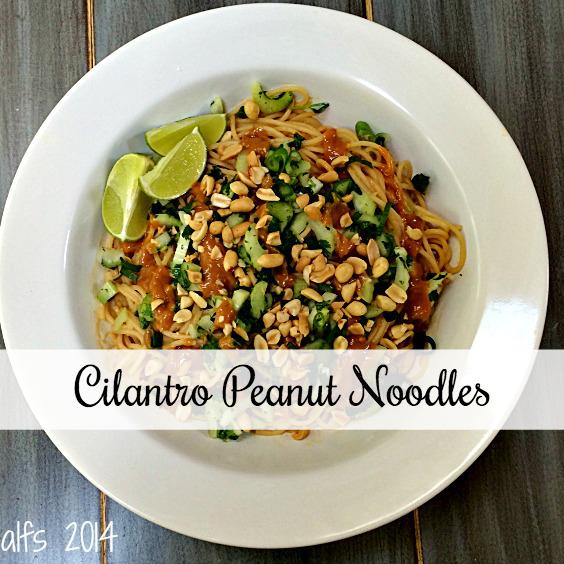 cilantro peanut noodles