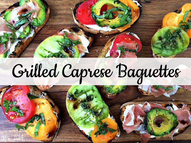 Grilled Caprese Baguettes