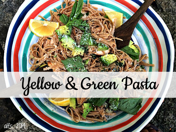 yellow & green pasta