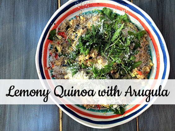 lemony quinoa with arugula