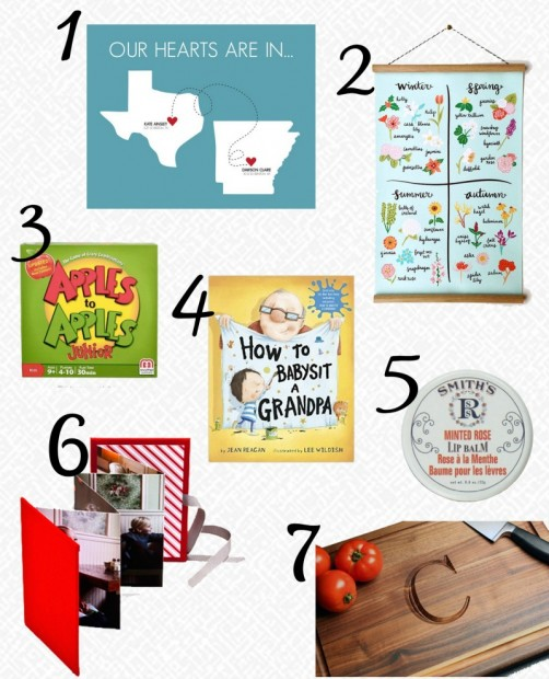 Courtney Grandparents Gift Guide with numbers