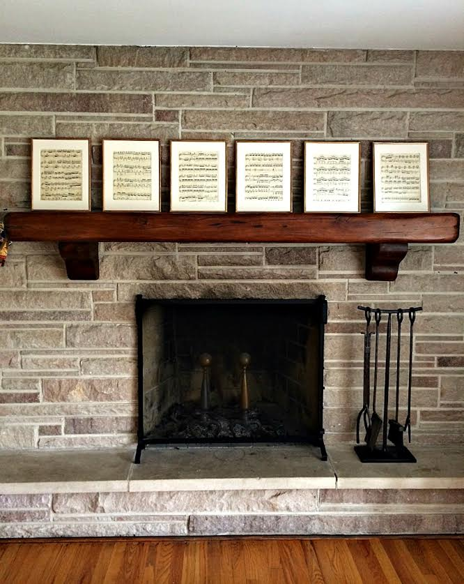 Fireplace Design restoration hardware fireplace : DIY: Restoration Hardware vintage music pieces. - A Life From Scratch.