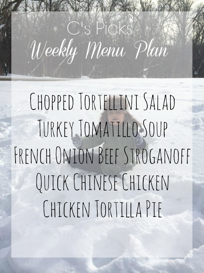 menu plan week of january 18