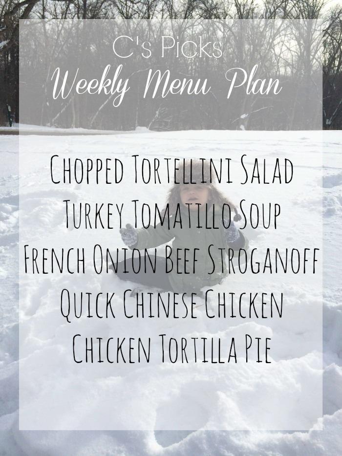menu plan week of january 18