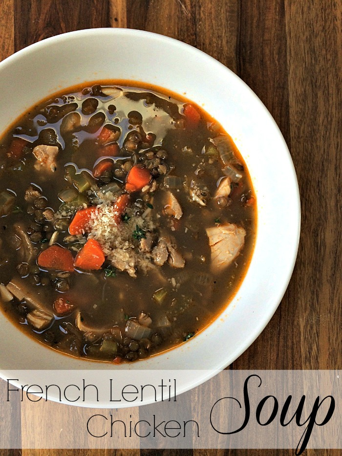 French lentil chicken soup