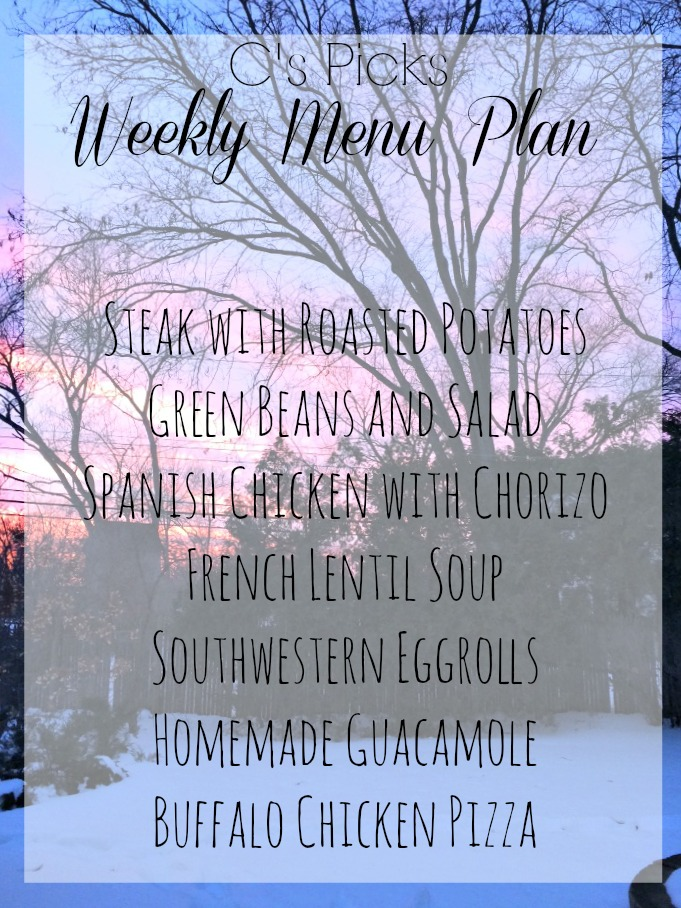 menu plan week of 2-22