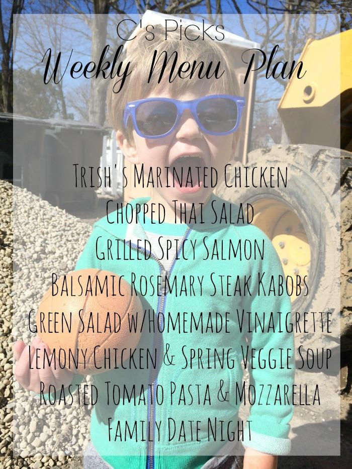 weekly menu plan week of 3-15