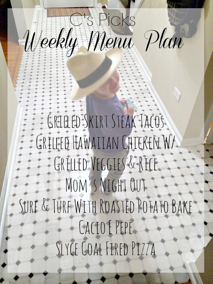 weekly menu plan week of 3-8