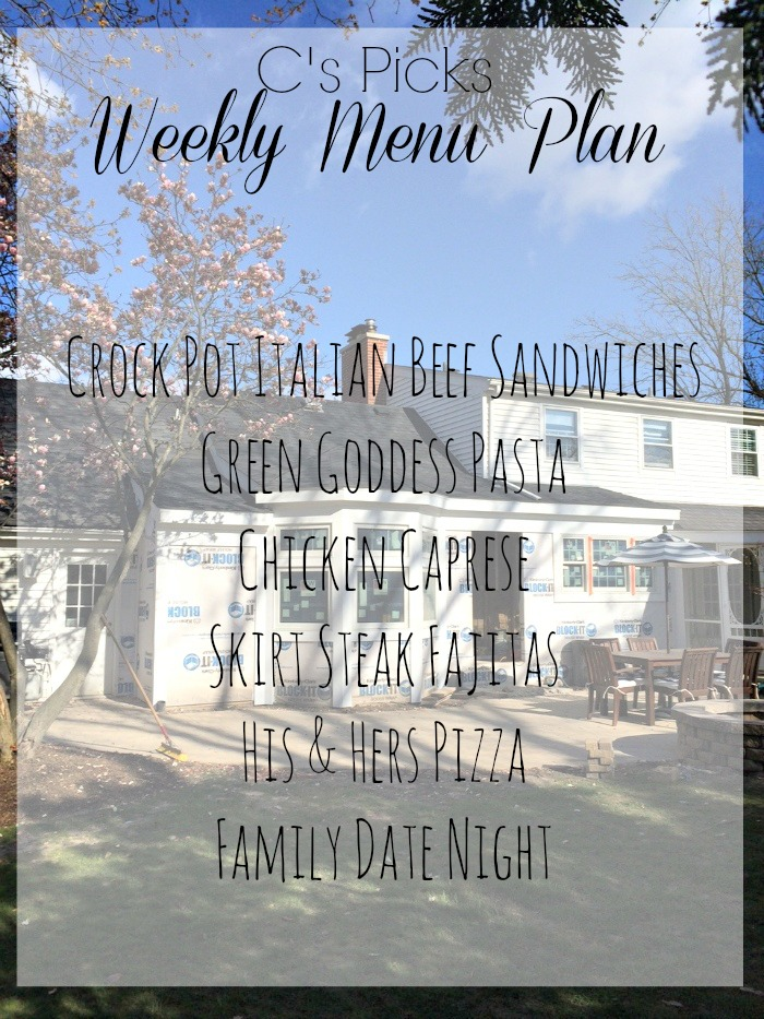 weekly menu plan 5-4