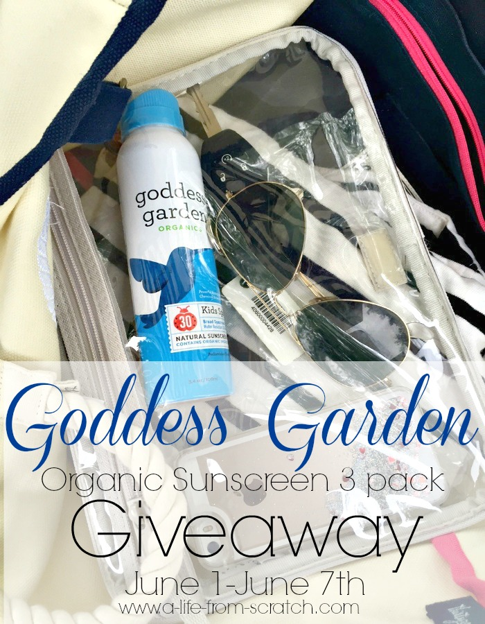 Goddess Garden Organic Sunscreen Giveaway
