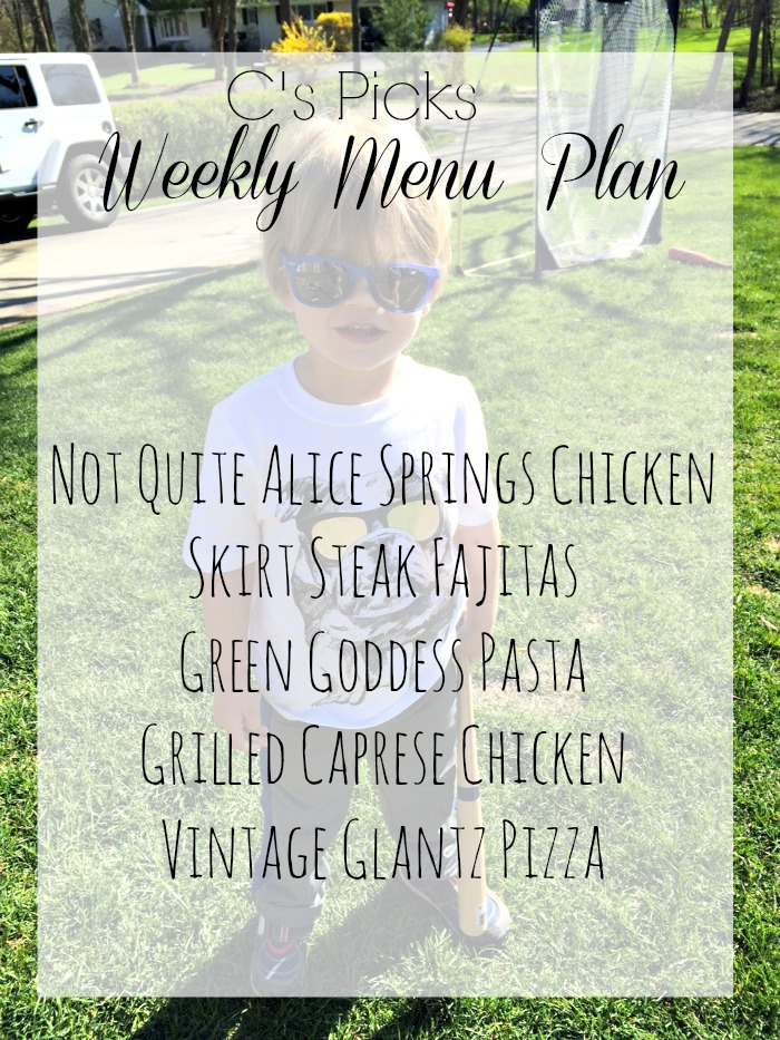 weekly menu plan week of 5-17