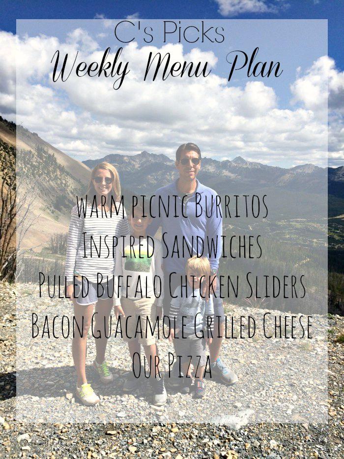 C's picks Menu Plan for July 26th