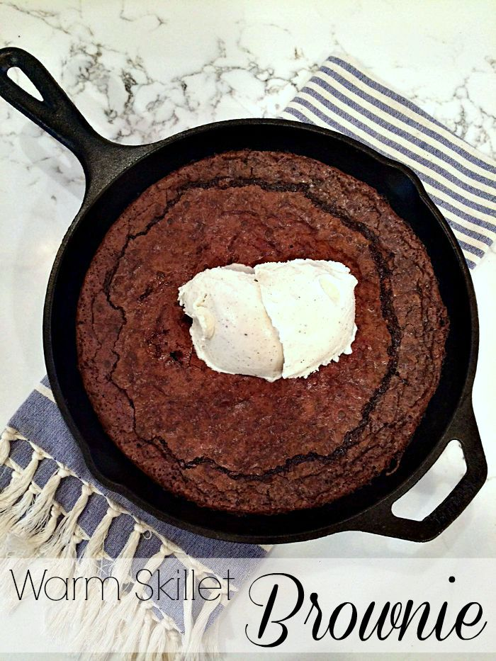 warm skillet brownie