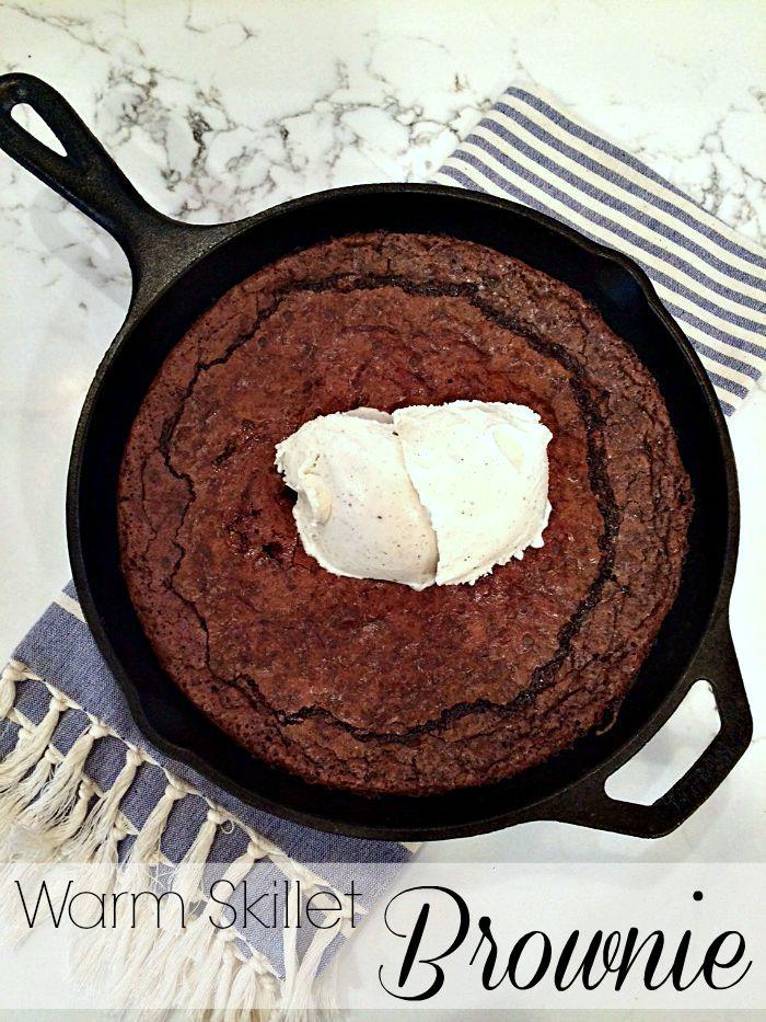 warm skillet brownie
