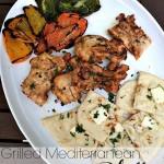 Grilled Mediterranean platter.