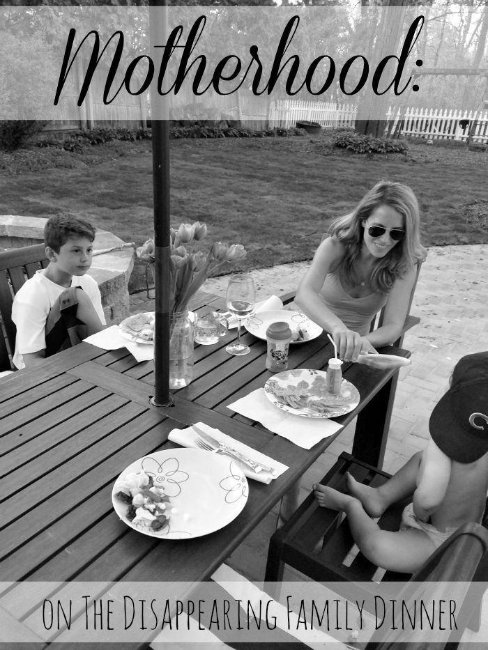 motherhood on the disappearing family dinner