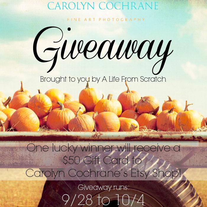 Carolyn Cochrane Giveaway