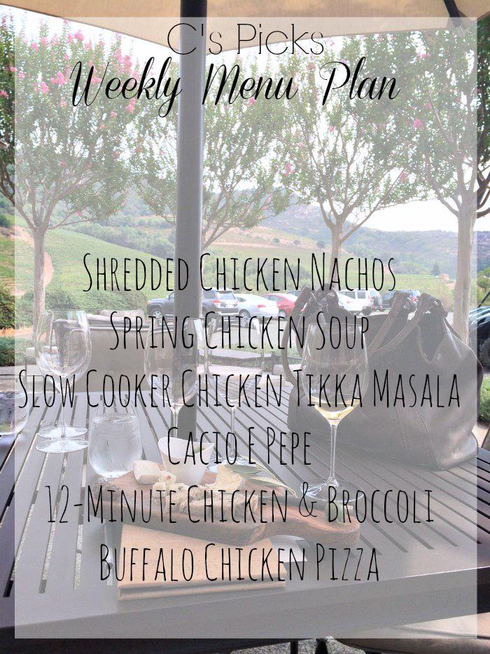 weekly menu plan week of 9-20