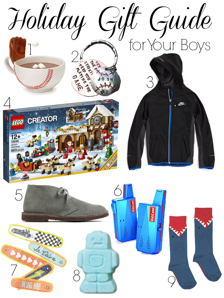 Holiday Gift Guide for Your Boys