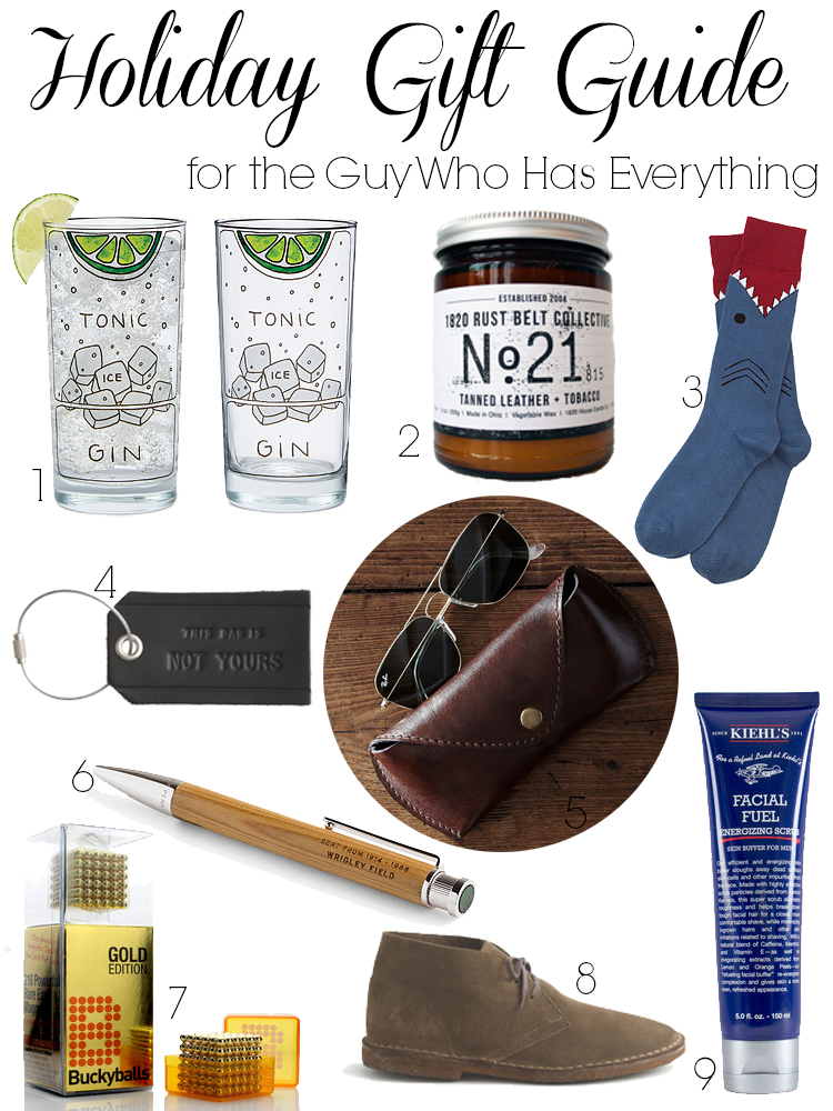 Holiday Gift Guide for the Guy who has Everything