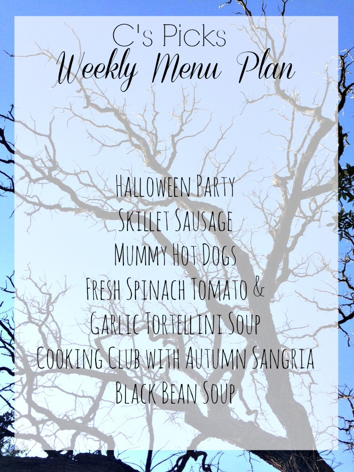 weekly menu plan week of 10-25