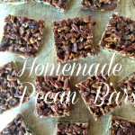 Homemade Pecan Bars.