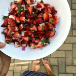Strawberry salsa.