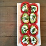 Caprese salad with burrata.