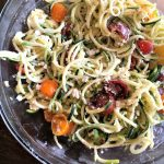 Meal prep Monday: Zucchini noodle salad with grilled chicken