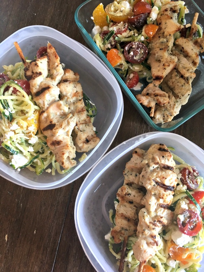 Meal Prep Monday Zucchini Noodle Salad With Grilled Chicken A
