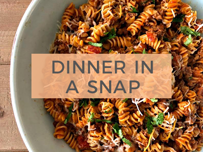 Dinner In A Snap Recipes