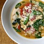 White bean and parmesan soup