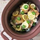 Slow cooker garlic citrus chicken