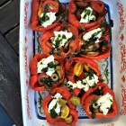 Roasted summer peppers.