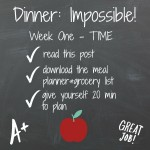 Dinner: Impossible (plus a free gift!)